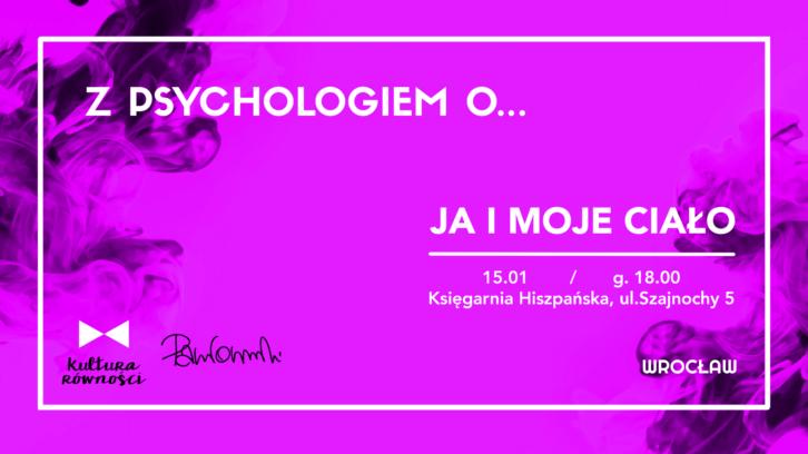 Grafika - plakat wydarzenia Z psychologiem o cielesności