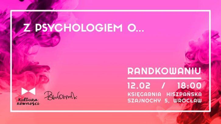 """Grafika - plakat wydarzenia """"Z psychologiem o randkowaniu"""""""