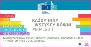 Międzynarodowy Dzień Przeciw Homofobii, Transfobii i Bifobii, 17 maja 2018 Wrocław